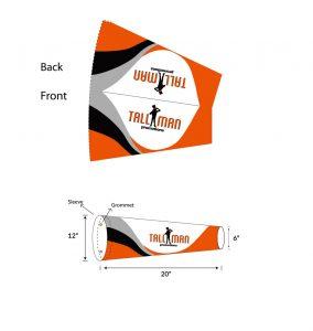windsock car flag template