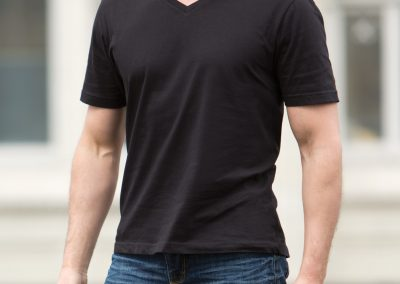 Custom mens v neck shirt